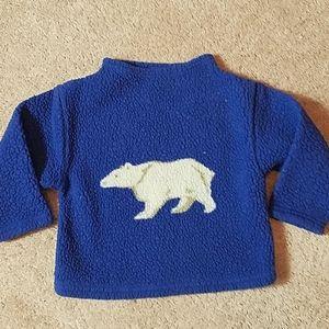 Old navy blue fleece sweatshirt size 3t